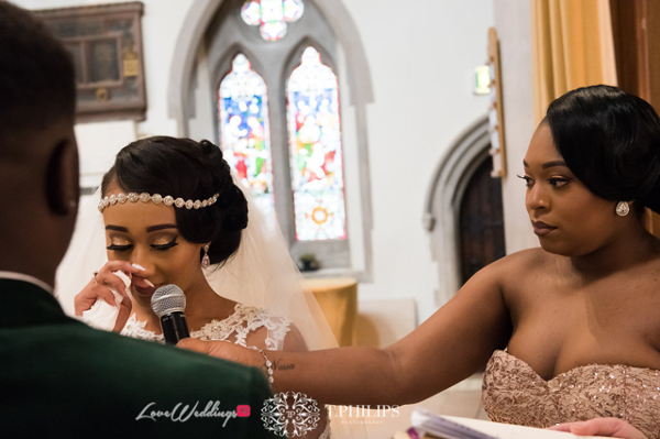 Nigerian Ghanaian White Wedding Abi and Olivia Vows LoveweddingsNG