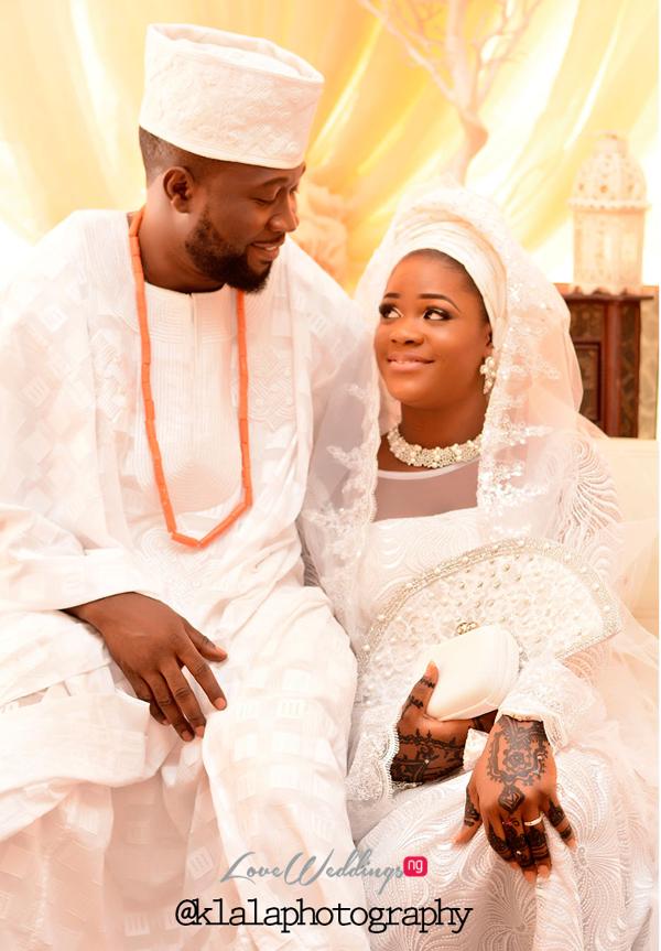 Nigerian Muslim Traditional Couple Rasheedat and Kamaldeen LoveweddingsNG Klala Photography 1
