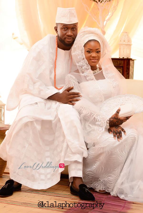 Nigerian Muslim Traditional Couple Rasheedat and Kamaldeen LoveweddingsNG Klala Photography