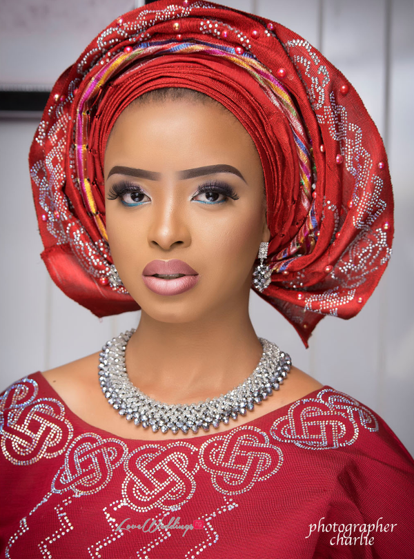 Nigerian Traditional Bride Red Aso Oke Inspiration LoveweddingsNG 4