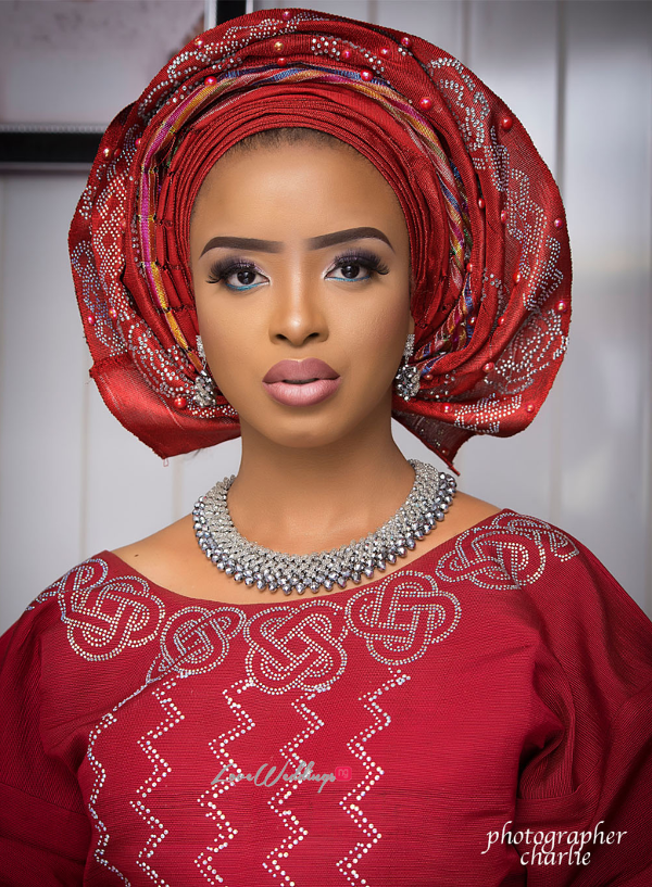 Nigerian Traditional Bride Red Aso Oke Inspiration LoveweddingsNG 6