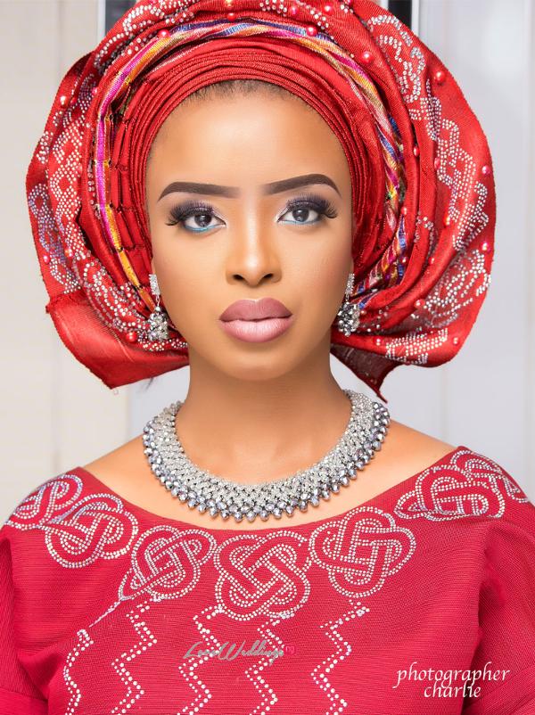 Nigerian Traditional Bride Red Aso Oke Inspiration LoveweddingsNG 7