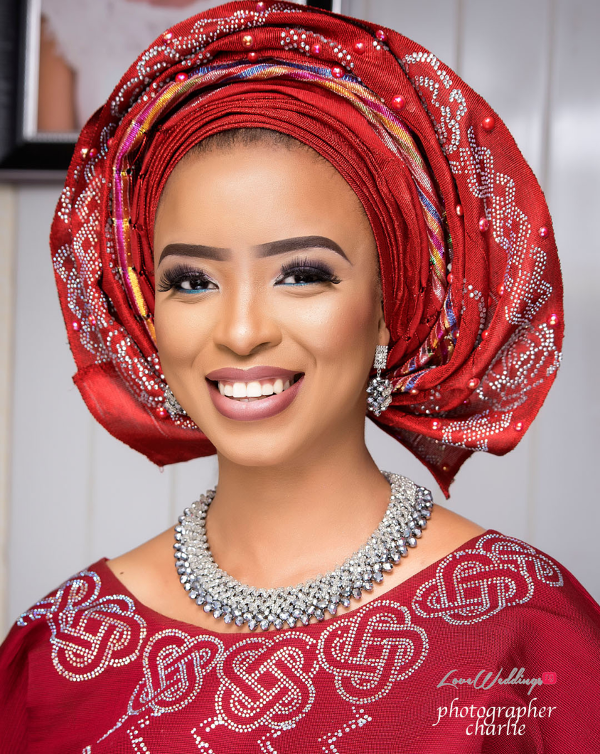 Nigerian Traditional Bride Red Aso Oke Inspiration LoveweddingsNG 8