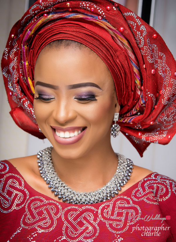 Nigerian Traditional Bride Red Aso Oke Inspiration LoveweddingsNG 9