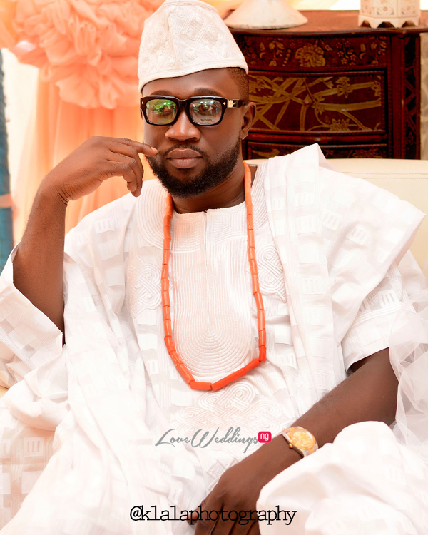 Nigerian Traditional Groom Rasheedat and Kamaldeen LoveweddingsNG Klala Photography 2