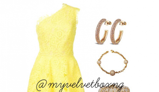 Nigerian-Wedding-Guest-Outfit-Yellow My-Velvet-Box-NG-LoveweddingsNG feat