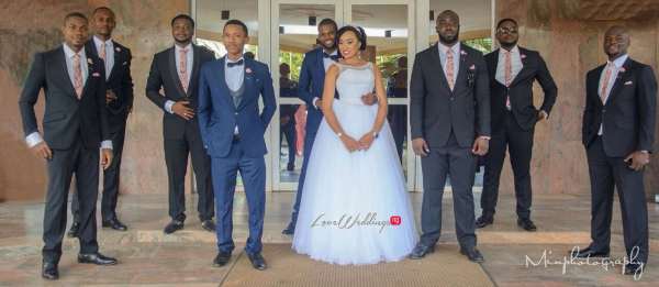 Nigerian Wedding Sandra and Obinna Groomsmen Solange Pose LoveweddingsNG