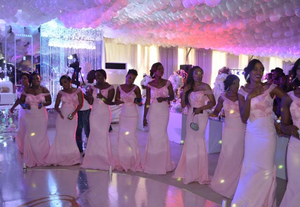 Onazi Ogenyi Sandra Ogunsuyi White Wedding Bridesmaids LoveweddingsNG