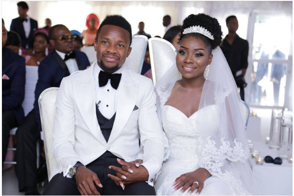 Onazi Ogenyi Sandra Ogunsuyi White Wedding Photos LoveweddingsNG