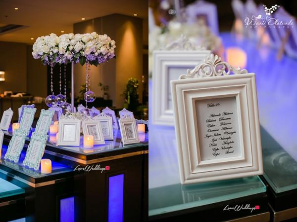 Tolu Oniru and Tunde Demuren Dubai Wedding Wani Olatunde LoveweddingsNG TSquared Table Numbers