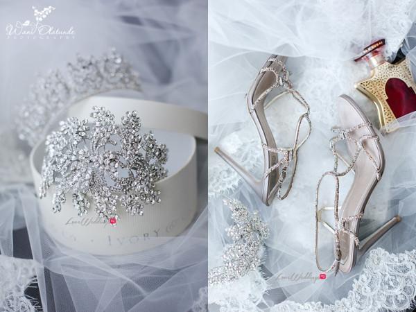 Tolu Oniru and Tunde Demuren Dubai Wedding Wani Olatunde LoveweddingsNG TSquared Tiara and Shoes
