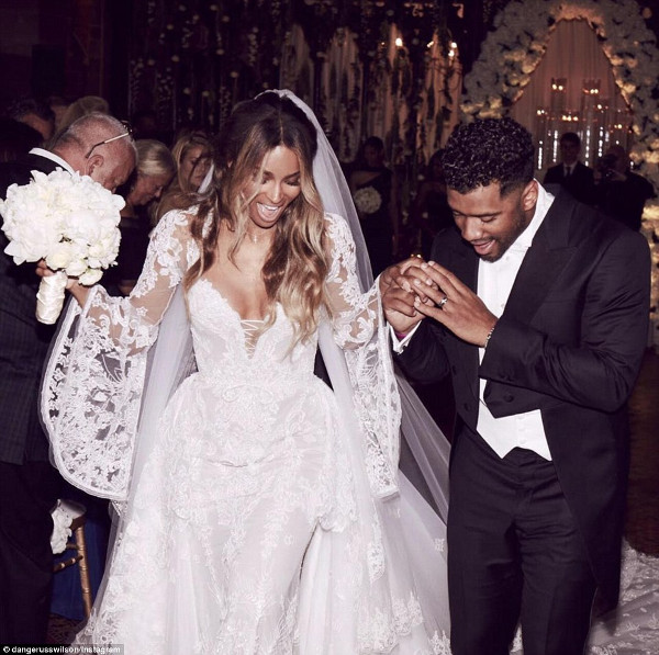 Ciara Russell Wilson Wedding Pictures LoveweddingsNG 6