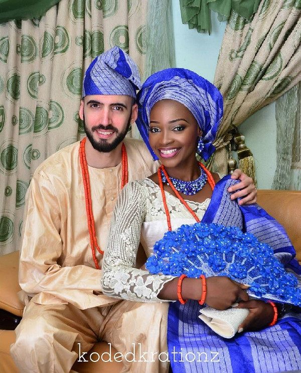 Esther and Kyrillos Yoruba Greek Traditional Wedding Bride and Groom Koded Krationz LoveweddingsNG