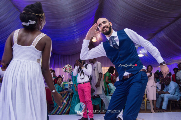 Esther and Kyrillos Yoruba Greek Wedding Bride and Groom Dance Sculptors Event Planners LoveweddingsNG