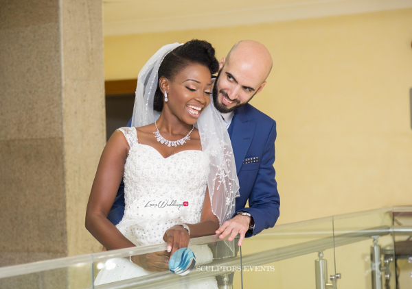 Esther and Kyrillos Yoruba Greek Wedding Bride and Groom Sculptors Event Planners LoveweddingsNG 2