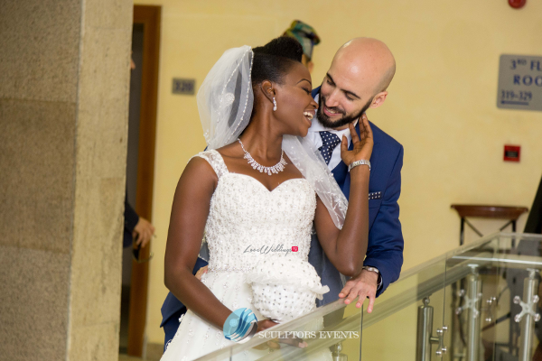 Esther and Kyrillos Yoruba Greek Wedding Bride and Groom Sculptors Event Planners LoveweddingsNG 3