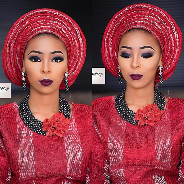 Nigerian Aso Oke Head to Toe Bridal Inspiration LoveweddingsNG GlamDrop