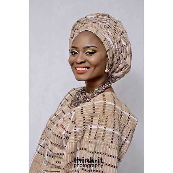 Nigerian Sanyan Aso Oke Head to Toe Bridal Inspiration LoveweddingsNG Thinkit Photography