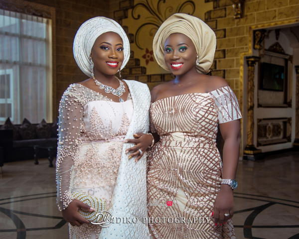 Nigerian Traditiona Bride and friend Kenny LoveweddingsNG Diko Photography