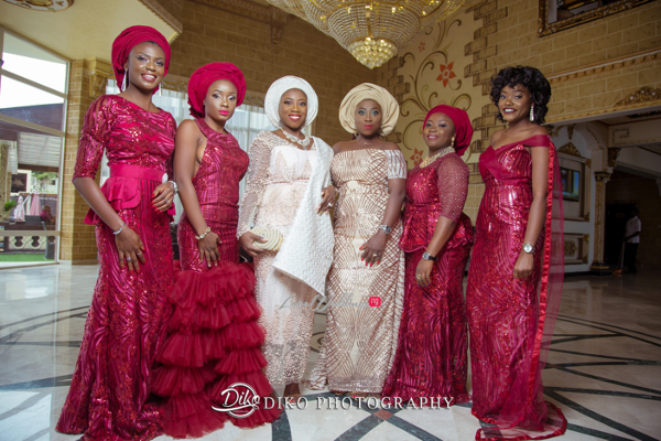 Nigerian Traditiona Bride and friends LoveweddingsNG Diko Photography