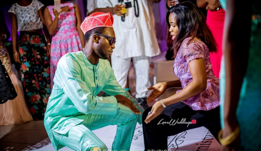 Nigerian Traditional Wedding Guests Dancing Ope and Deji LoveweddingsNG Seun Kilanko Studios 2