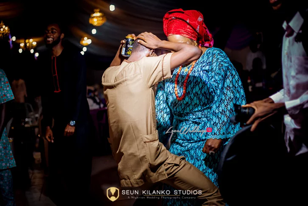Nigerian Traditional Wedding Guests Dancing Ope and Deji LoveweddingsNG Seun Kilanko Studios