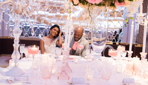 Forever Blush Styled Shoot Cristal Olivier Weddings Bride and Groom LoveweddingsNG 5