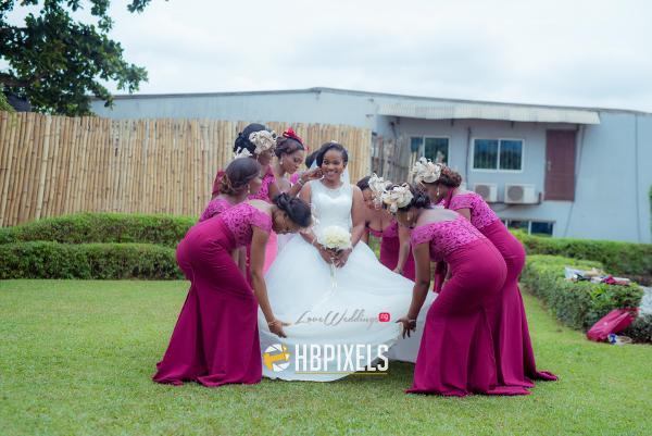 Nigerian Bride and Bridesmaids Dami and Tobi HB Pixels LoveweddingsNG 1