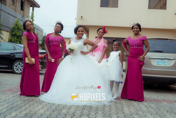 Nigerian Bride and Bridesmaids Dami and Tobi HB Pixels LoveweddingsNG