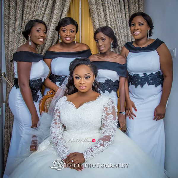 Nigerian Bride and Bridesmaids Judith & Kingsley Diko Photography LoveweddingsNG 2