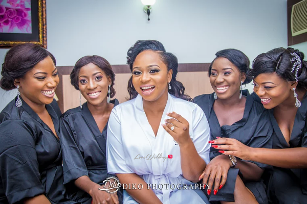 Nigerian Bride and Bridesmaids Robe Judith & Kingsley Diko Photography LoveweddingsNG 1