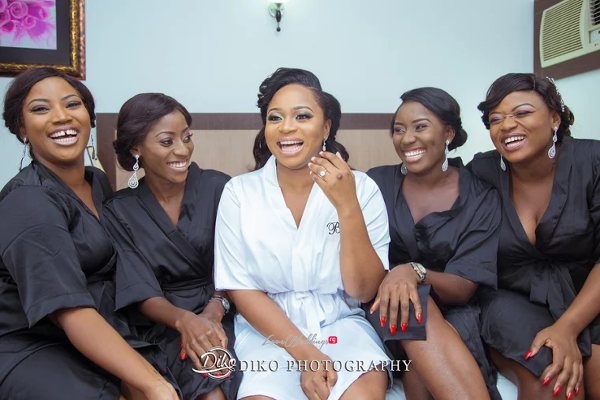 Nigerian Bride and Bridesmaids Robe Judith & Kingsley Diko Photography LoveweddingsNG 2