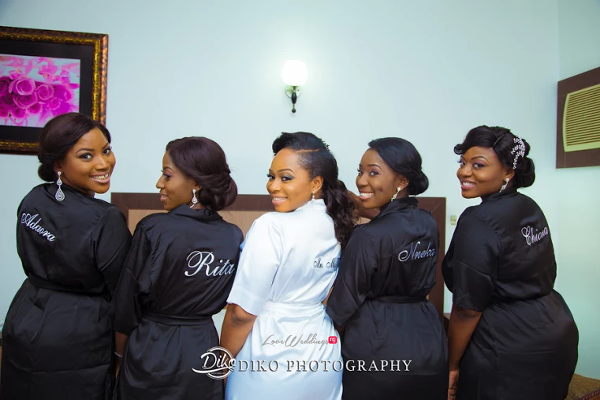 Nigerian Bride and Bridesmaids Robe Judith & Kingsley Diko Photography LoveweddingsNG 3