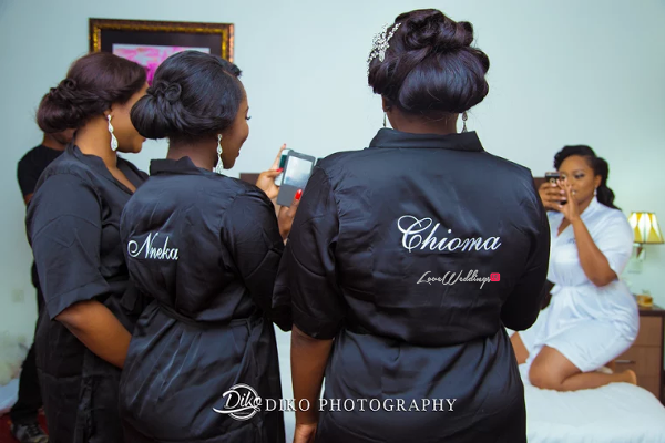Nigerian Bride and Bridesmaids Robe Judith & Kingsley Diko Photography LoveweddingsNG
