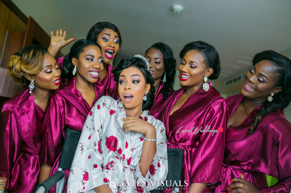 Nigerian Bride and Bridesmaids Trendybee Events LoveweddingsNG