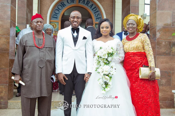 Nigerian Bride and Groom with Parents Judith & Kingsley Diko Photography LoveweddingsNG