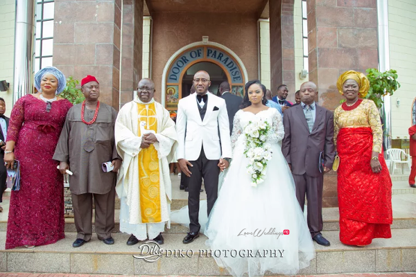 Nigerian Bride and Groom with Priest Judith & Kingsley Diko Photography LoveweddingsNG