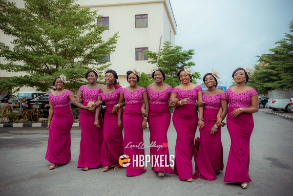 Nigerian Bridesmaids Dami and Tobi HB Pixels LoveweddingsNG