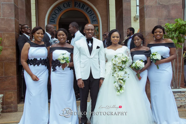 Nigerian Couple and Bridesmaids Judith & Kingsley Diko Photography LoveweddingsNG