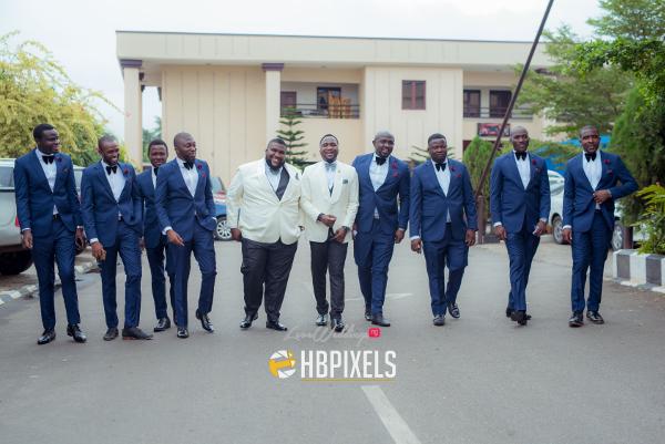 Nigerian Groom and Groomsmen Dami and Tobi HB Pixels LoveweddingsNG