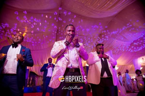 Nigerian Groom and Groomsmen Dance Dami and Tobi HB Pixels LoveweddingsNG
