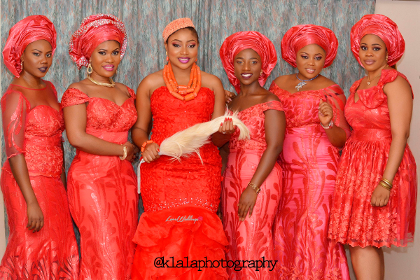 Nigerian Igbo Bride and Aso Ebi Girls Chichi and Stan Klala Photography LoveweddingsNG 1