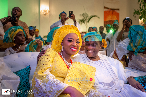 Nigerian Traditional Bride and Father Kunbi Oyelese Lanre Tomori LoveweddingsNG