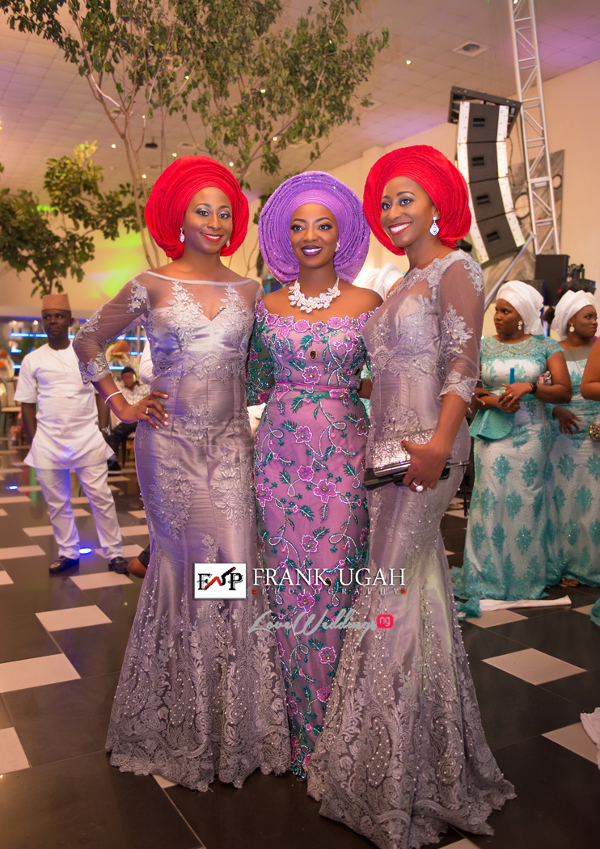 Nigerian Traditional Bride and Friends Kunbi Oyelese Lanre Tomori LoveweddingsNG