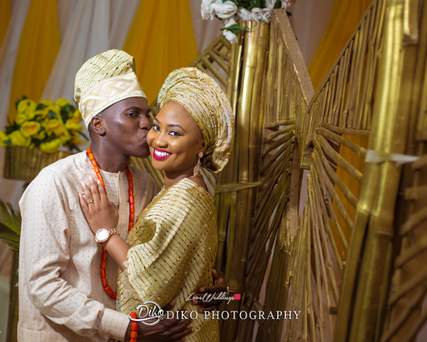 Nigerian Traditional Bride and Groom Adefunke & Adebola Second Outfit Diko Photography LoveweddingsNG 1
