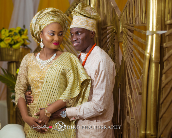 Nigerian Traditional Bride and Groom Adefunke & Adebola Second Outfit Diko Photography LoveweddingsNG