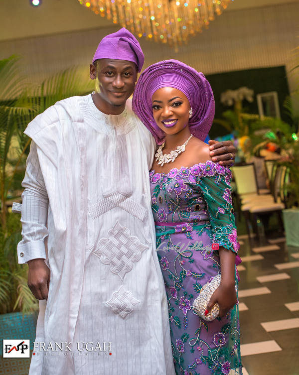 Nigerian Traditional Bride and Groom Kunbi Oyelese Lanre Tomori Second Outfit LoveweddingsNG