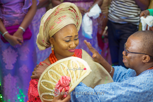 Nigerian Traditional Bride and dad tears Adefunke & Adebola Diko Photography LoveweddingsNG