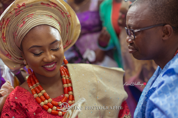 Nigerian Traditional Bride and dad tears Ekun Iyawo Adefunke & Adebola Diko Photography LoveweddingsNG