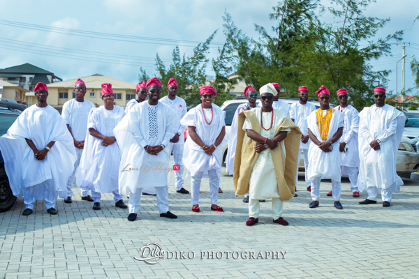 Nigerian Traditional Groom and Groomsmen Tope and Dami Diko Photography LoveweddingsNG